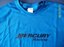Mercury Racing Screen Printed Royal T-Shirt 100% Heavy Cotton Pre Shrunk
