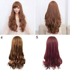 WOMEN LOLITA CURLY WAVY LONG FULL WIG HEAT RESISTANT COSPLAY PARTY HAIR GORGROUS