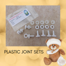 5 PLASTIC JOINTS 15 to 30mm  to make a Complete Teddy Bear or Plush Animal  PJ-1