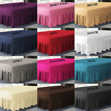 Plain Dyed Extra Deep Fitted Valance Sheet Poly-Cotton Bed Sheet In All Sizes