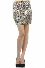 Sexy Club Party Wild Brown Leopard Animal Print Fold Over Waist Mini Skirt S