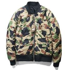 Men's Bape 2 sides Camo Printed Sweater Coat a bathing ape icon Sports Jacket