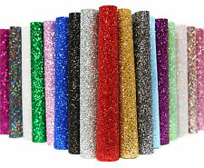 Self-Adhesive A4 / A5 / A6 Glitter Fabric Sheets - Many Colours!