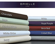 Brielle 630TC 100% Egyptian Cotton Sateen Premium Sheet Set NEW
