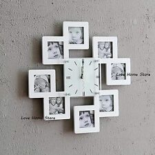 Mutil Personalized Family Pictures Wall Clock Photo Frame Home Decoration