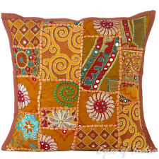 "16"" Brown Decorative Sofa Throw Cushion Couch Pillow Cover Bohemian Indian Boho"