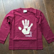 MINI BODEN Boys Long Sleeve Top 3-4 APPLIQUE Brand New FUNKY Hands Off