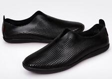 New mens dress/casual Genuine leather loafer comfort driving shoes 4 colors size