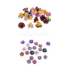 20pcs Mixed Colors Flower Polymer Clay 5-leaves Plumeria Bead 15mm for DIY Craft
