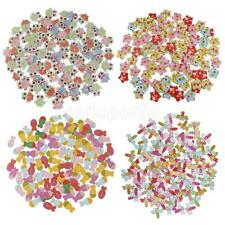 100pcs Mixed Flatback Wooden Buttons 2 Holes Sewing Scrapbooking Card Crafting