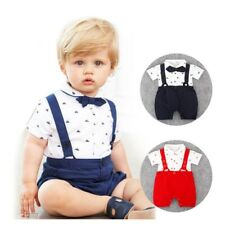 New Born Baby Boy Clothes Bow Tie Baby Girls Clothing Gentleman Infant Costume T