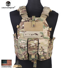 Tactical Plate Carrier Vest with M4 Pouch Emersongear 094K Airsoft Vest 7356