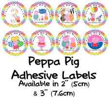 Personalised  PEPPA PIG Self Adhesive Glossy Labels/Stickers