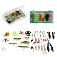 101pcs/Set Fishing Lures Soft Worm Bait Fishing Terminal Tackle Line Cutter
