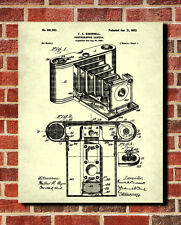 Vintage Camera Patent Print Photography Poster Photographic Equipment Wall Art