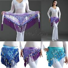 Women Girls Dancer Belly Dance Dancing Waist Chain Hip Scarf Skirt Wrap Costume