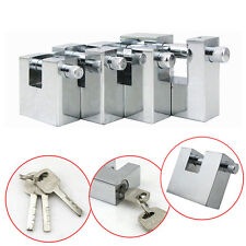 Steel Padlocks Chain Pad Lock for Heavy Duty Shipping Container Garage Case/Box♡