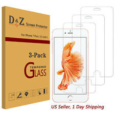3x Premium Real Tempered Glass Screen Protector Film for Apple iPhone 6s/7 Plus
