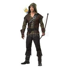 Sherwood Forest Archer Medieval Hero Warrior Men Costume Party Fancy Dress S-XXL