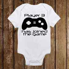 Geeky Baby Onesie  Player 3 Joined Baby Girl or Boy - Gamer - Baby Shower Gift