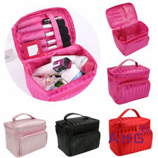 Beauty Make Up Nail Tech Cosmetic Box Jewellery Vanity Case Storage Large Bag