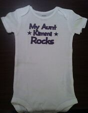 my Aunt Rocks personalized baby shirt aunt baby clothing aunt one piece bodysuit