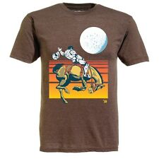 Ames Bros 'Space Cowboy' T-Shirt Heather Brown,BNWT,UK SELLER,SIZES M & L