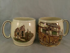 Set of 2 Kirkham Pottery Mugs - The George Inn Norton St. Phillips Somerset