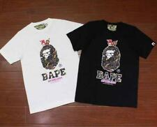 Men's Bape Little red heart Milo Icon Monkey Round Neck Classical AapeTee Shirt
