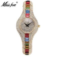 Fashion Women Watch Rhinestone Diamond Ladies Dress Crystal Quartz Wrist Watch