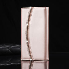 Luxury Diamond Crystal Magnetic Leather Flip Wallet Case Cover For iPhone 6s 7 5