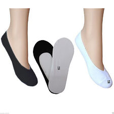 Ladies/Womens Invisible Trainer Socks Footsies Shoe Liner Unisex Pack of 3 & 6