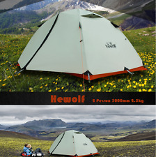 2 person camping Light Tent Waterproof double layer 4 season outdoor snow skirt