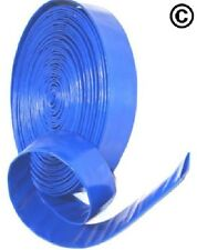 "1"" Layflat PVC Water Delivery Hose - Discharge Pipe Pump Lay Flat Irrigation Blu"