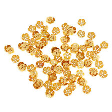 100 Wholsale Metal Alloy Hollow Flower End Spacer Metal Bead Caps Jewelry Making