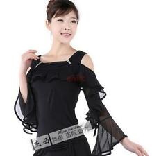New Womens Latin Ballroom Modern Tango Salsa Dance Dress Cloth Top Blouse Shirts