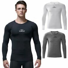 Mens Under Compression Base Layer TOPS Thermal Running Gym Tights Sport T Shirts