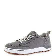 Mens Caterpillar Evasion Charcoal Lace Up Leather Trainers Casual Shoes Shu Size