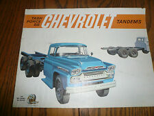 1959 Chevrolet Trucks Sales Brochure - Tandems