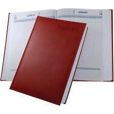 Castelli Restaurant Booking A4 Diary - Black or Red