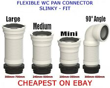 Cheap Flexible Pan Connector Toilet Waste Soil Pipe MINI - MEDUIM - LARGE - 90°
