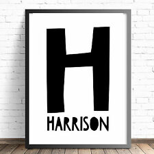 Nursery or Bedroom Wall Art Decor Print A4 A3 - Name Print - More Colours