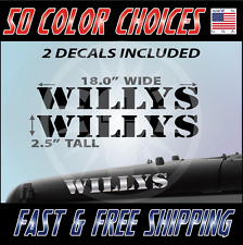 """2 - 18"""" Jeep Willys Decal set Jeep sticker hood fender graphic Jeep Decals - 015"""