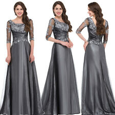 Formal Women Evening Party Cocktail Wedding Ball Gown Prom Dress Smooth Lace New