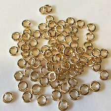 5Pcs - 18 Gauge Open Jump Ring Top Quality 14 Karat Gold
