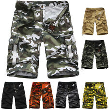 Mens Camouflage Casual Military Loose Shorts Multi-pockets Short Pant Trousers