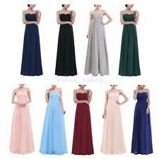 Elegant Long Chiffon Prom Ball Gown Bridesmaid Dress Women Formal Evening Party