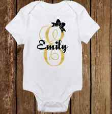 Unique Sparkle Custom Name -Cute Baby Girl Clothes Bodysuit Onesie Personalized