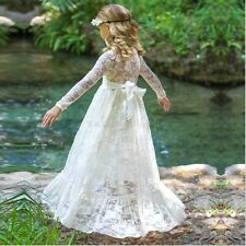 Girls Kids Princess Dress Flower Pageant Wedding Bridesmaid Birthday Party Prom