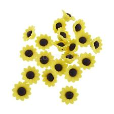 20pcs Sunflower Clay Polymer Flower Findings Loose Spacer Beads Jewelry Making